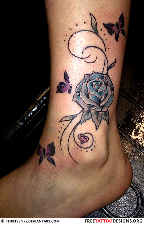 Butterfly Tattoo Ankle: 32+ New Inner Ankle Tattoos