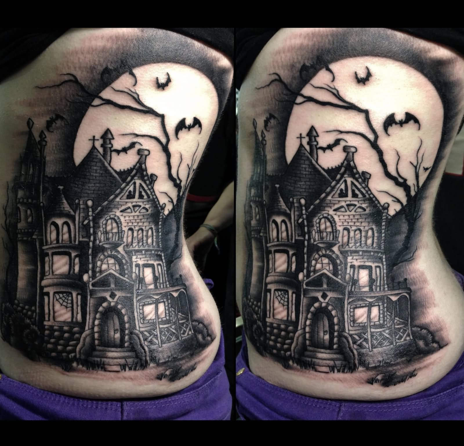 45 best haunted house tattoos