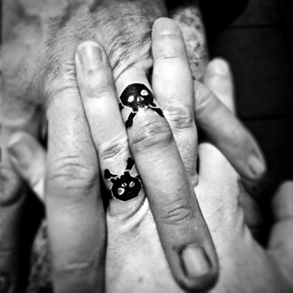 40d808aca Sugar Skull Ring Finger Tattoo - The Best Brand Ring In Wedding