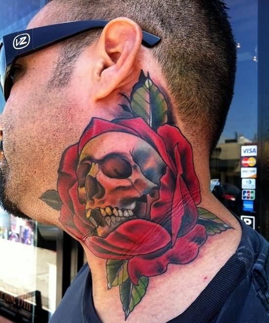 Тату на шее сбоку мужские фото - Татуировки мужские фото