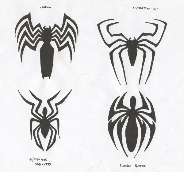 20 spiderman logo tattoo designs and pictures