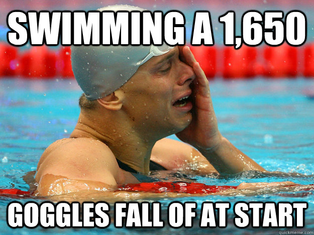 Swimming A 1650 Goggles Fall Of At Start Funny Swimming Meme Image 27 most funniest swimming meme pictures of all the time