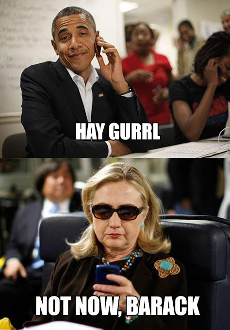 Texts From Hillary Clinton To Barack Funny Meme Picture For Whatsapp