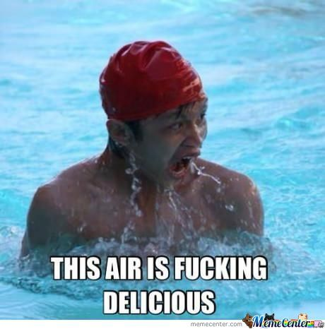 This Air Is Fucking Delicious Funny Swimming Meme Picture 27 most funniest swimming meme pictures of all the time