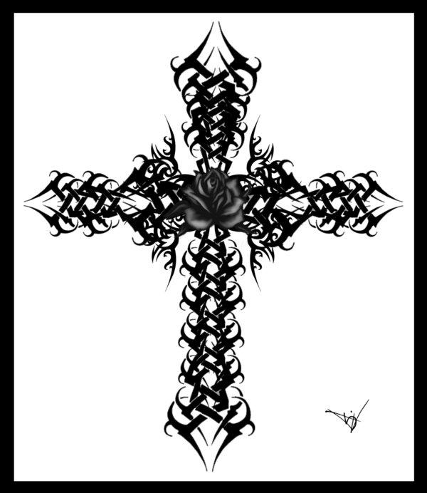 24 gothic rose tattoos and design ideas. Black Bedroom Furniture Sets. Home Design Ideas