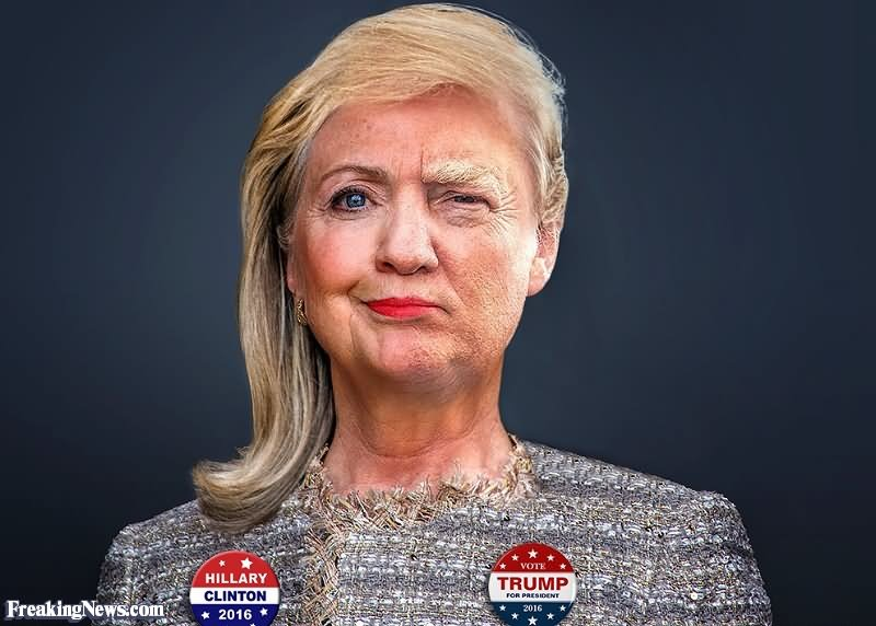 Trump And Hillary Clinton Merged Funny Photoshop Funny Picture