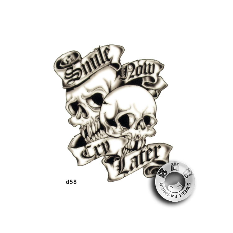 35 gothic skull tattoos
