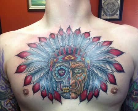 26 indian chief tattoos and designs ideas for Indian motorcycle tattoo