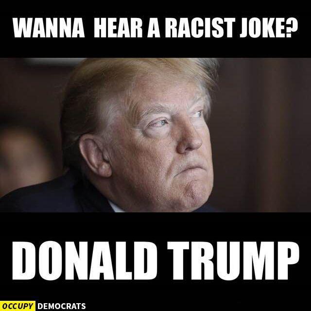 Wanna Hear A Racist Joke Donald Trump Funny Meme Picture