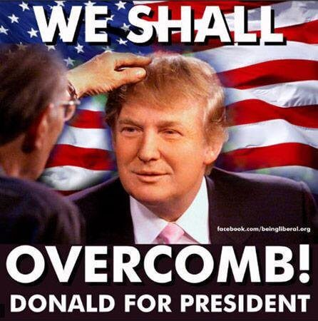 We Shall Overcomb Donald For President Funny Donald Trump Meme Image 50 funniest donald trump meme images and photos on the internet