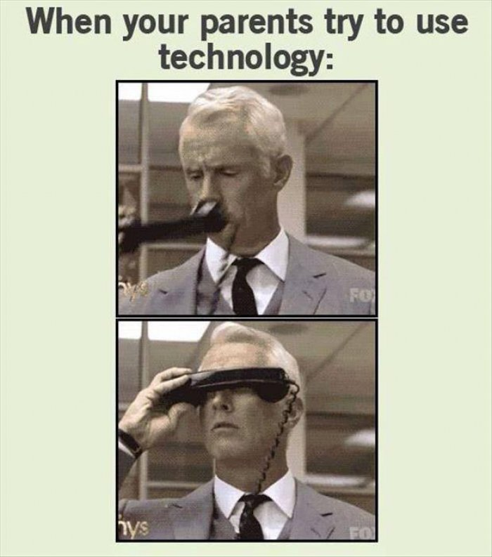 Funny Memes For Your Mom : Funniest technology meme images and pictures of all the