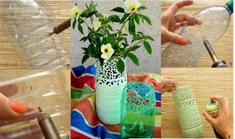 30 best way to reuse of waste plastic items for Flower pot making with waste material