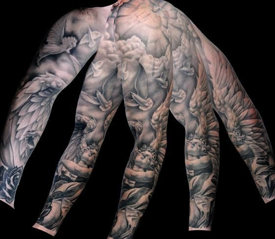 21 full sleeve religious tattoos. Black Bedroom Furniture Sets. Home Design Ideas