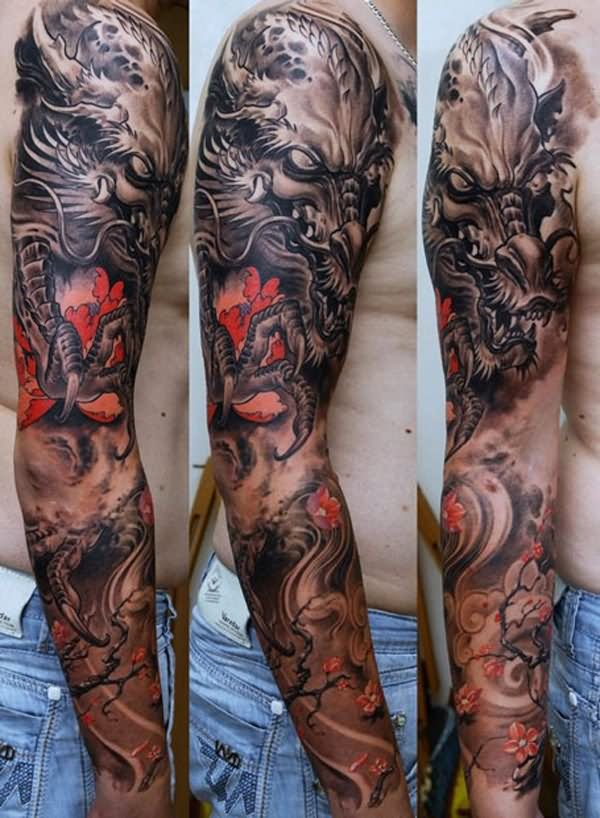 29 Japanese Full Sleeve Tattoos