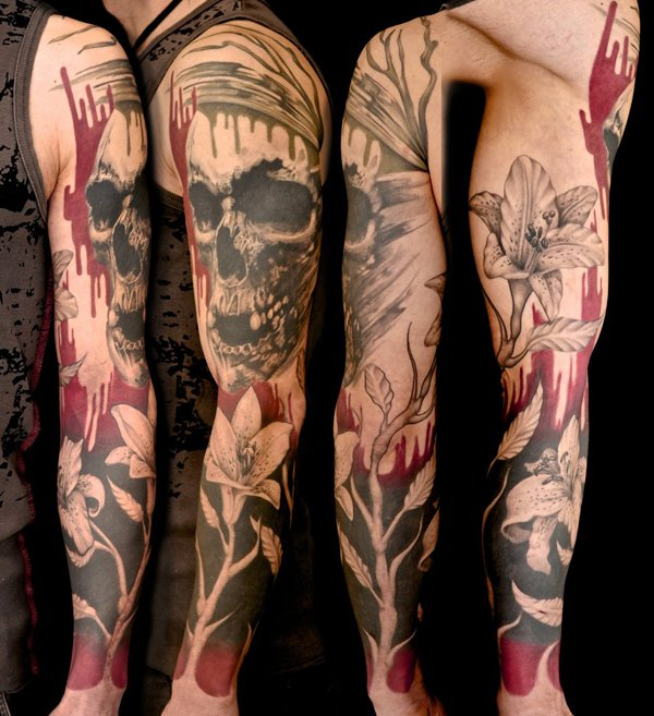 31 amazing abstract half sleeve tattoos. Black Bedroom Furniture Sets. Home Design Ideas