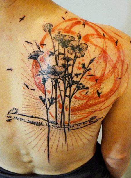 Flower Tattoo Artist Tattooist Flower 타투이스트: 47+ Abstract Flower Tattoos