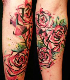 47 abstract flower tattoos for Abstract rose tattoo