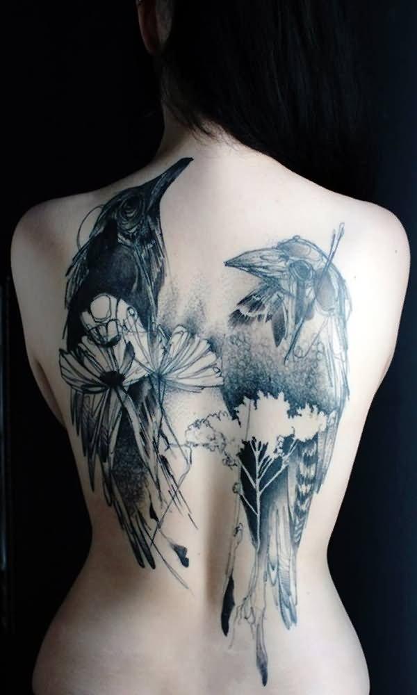 40 abstract bird tattoos. Black Bedroom Furniture Sets. Home Design Ideas