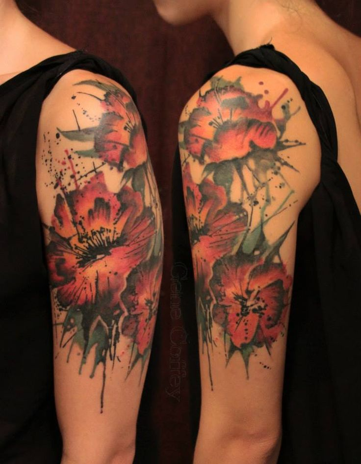 31 amazing abstract half sleeve tattoos for Abstract flower tattoo