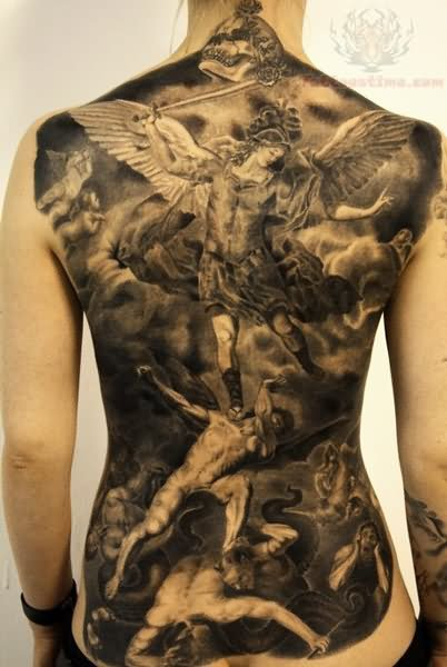 50+ Amazing Full Back Tattoos