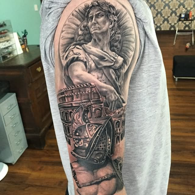 Roman coliseum tattoo pictures to pin on pinterest for Italian warrior tattoos