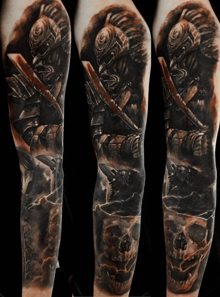 30+ Great Full Sleeve Tattoos by Maksims Zotovs