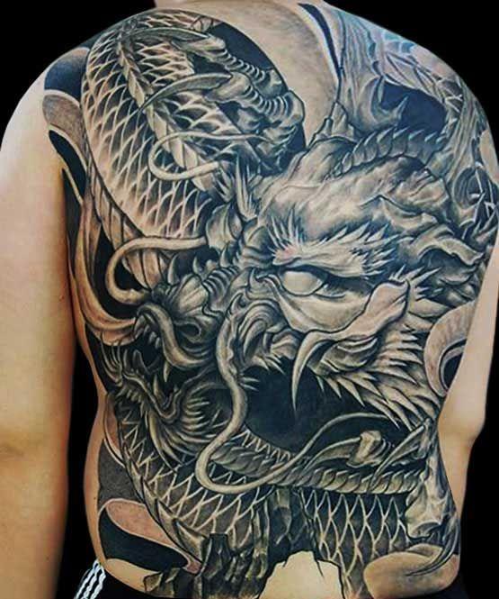 Amazing Dragon Tattoo On Full Back By Bum Choi