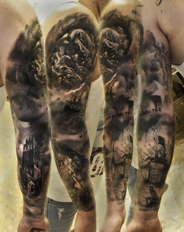 Amazing Tattoo Sleeve: 30+ Great Full Sleeve Tattoos By Maksims Zotovs