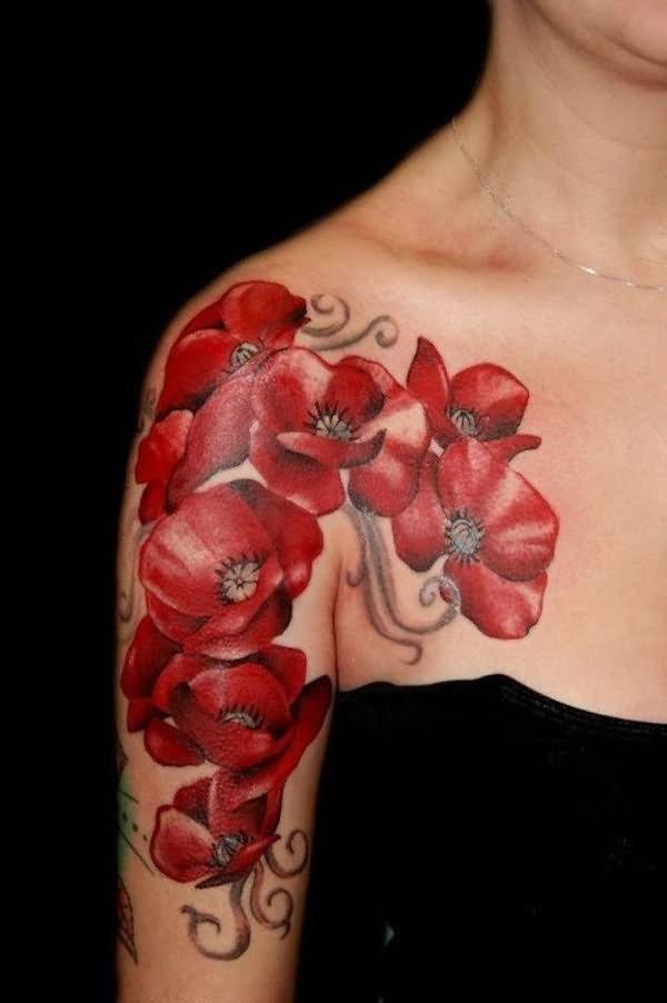 11 poppy half sleeve tattoos amazing poppy flowers tattoo on right half sleeve mightylinksfo