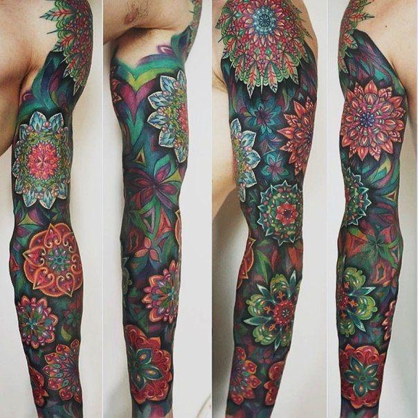 Colorful Tattoo Sleeve Designs: 28+ Colored Full Sleeve Tattoos