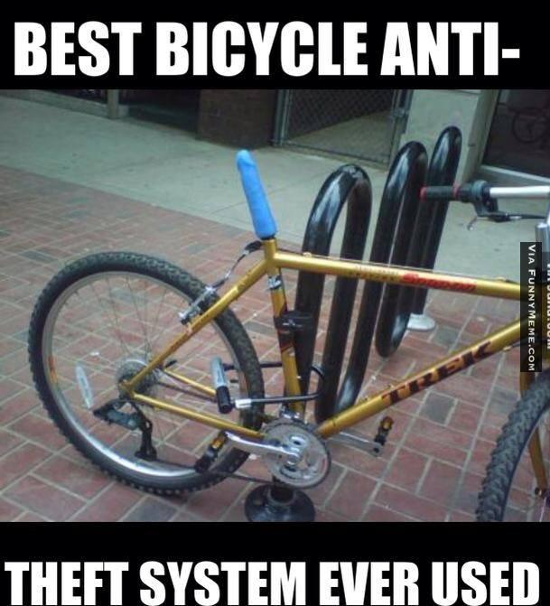 best bicycle anti theft system ever used funny bike meme image