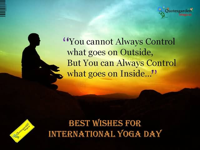 Best Wishes For International Yoga Day Picture