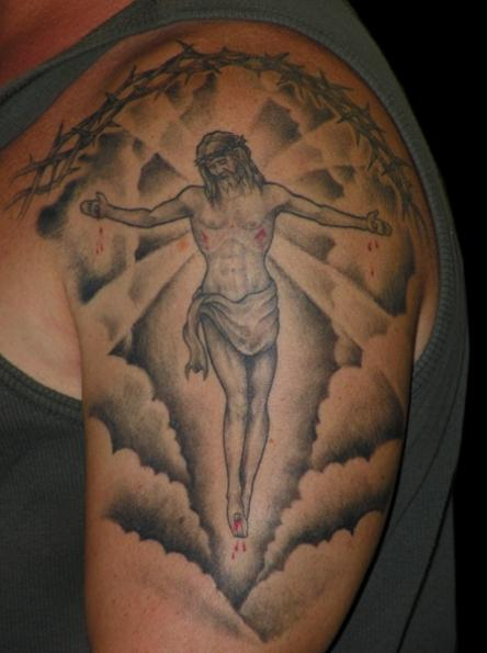Cross With Clouds Tattoo: 35+ Latest Cloud Tattoos