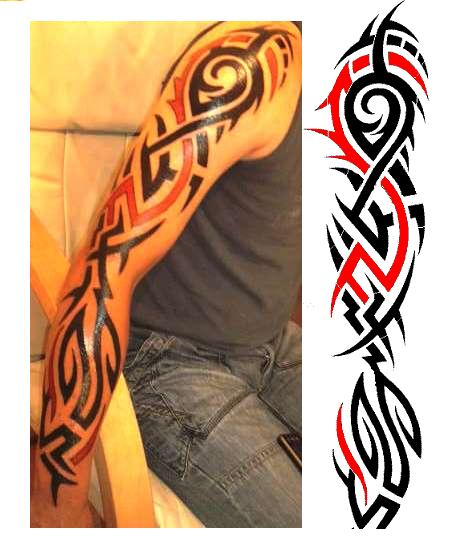 17 full sleeve tribal tattoos. Black Bedroom Furniture Sets. Home Design Ideas