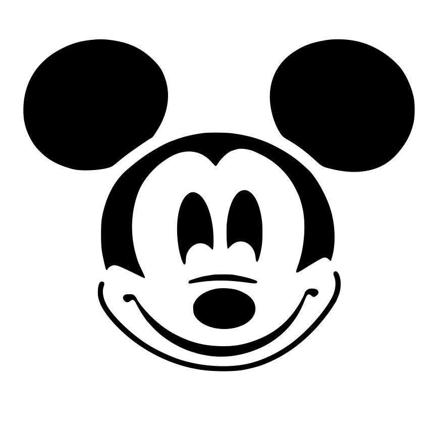 014ae4de4fdae Black And White Mickey Mouse Head Tattoo Design