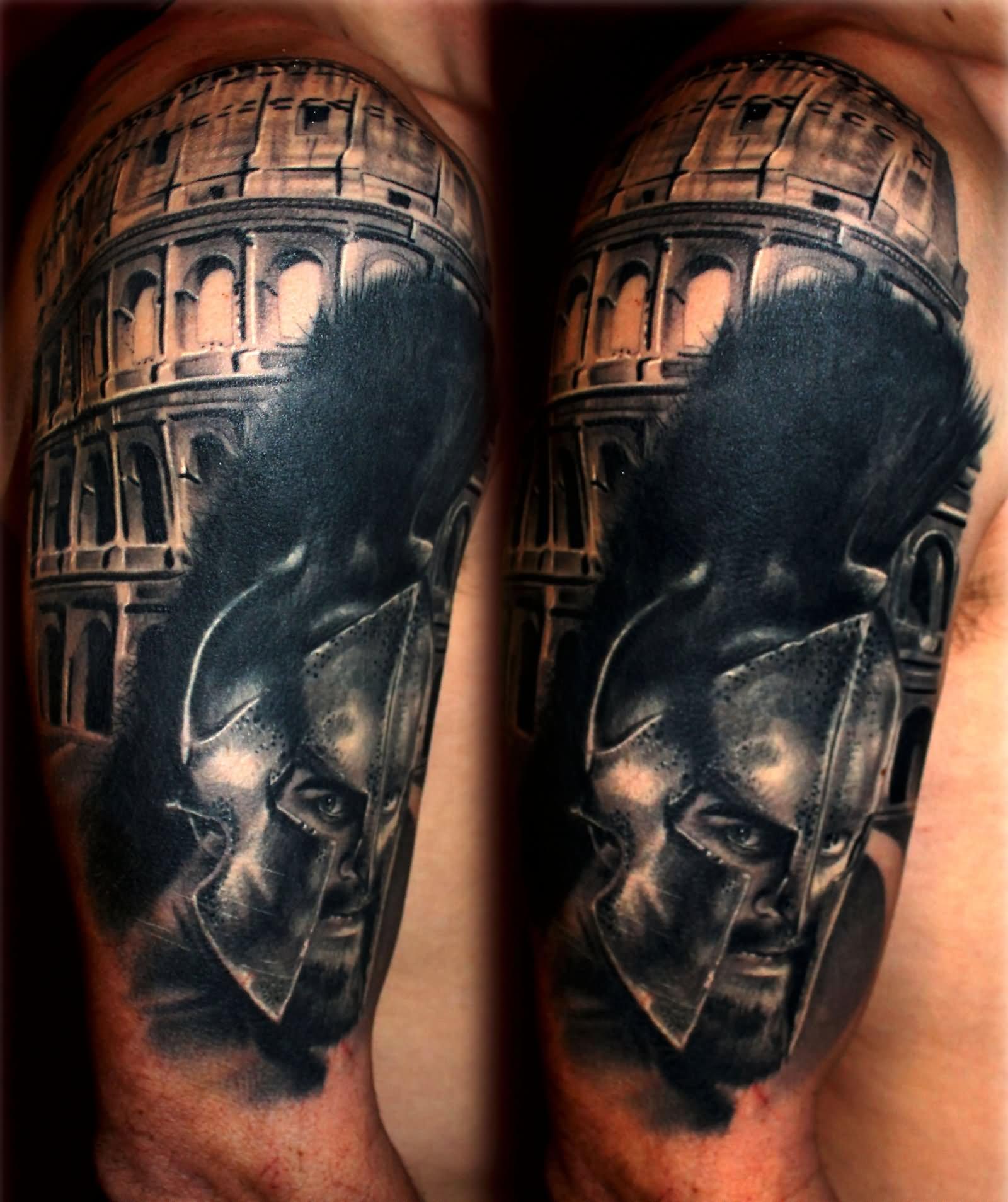 13 colosseum half sleeve tattoos. Black Bedroom Furniture Sets. Home Design Ideas