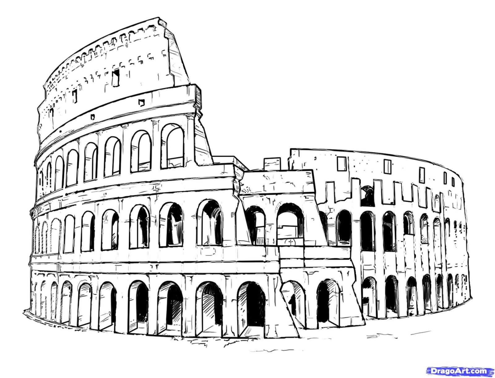 4 colosseum tattoo designs for Colosseo da colorare