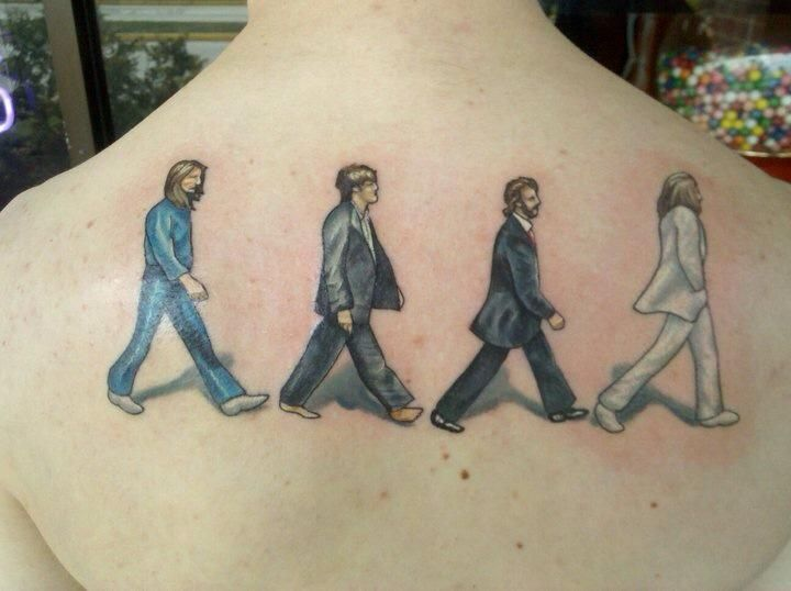 23 amazing beatles abbey road tattoos