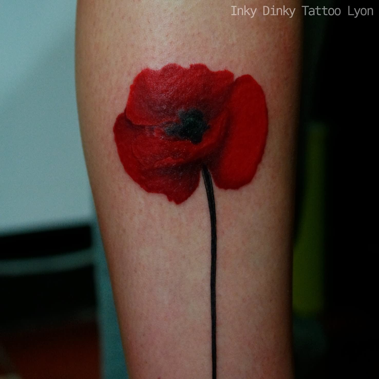 45 awesome poppy tattoos. Black Bedroom Furniture Sets. Home Design Ideas