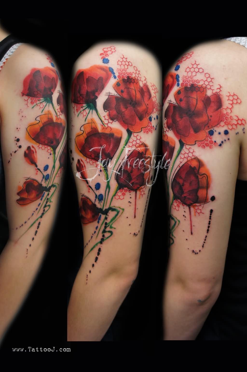 11+ Poppy Half Sleeve Tattoos