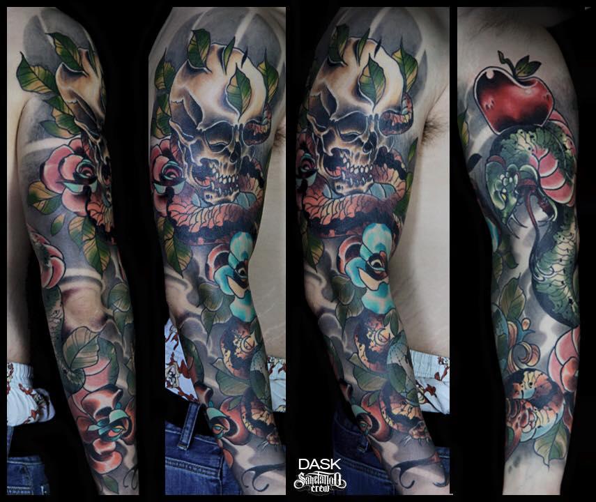 20 Color Sleeve Tattoos: 28+ Colored Full Sleeve Tattoos