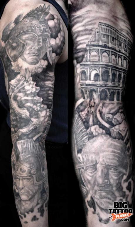 15 wonderful colosseum tattoos