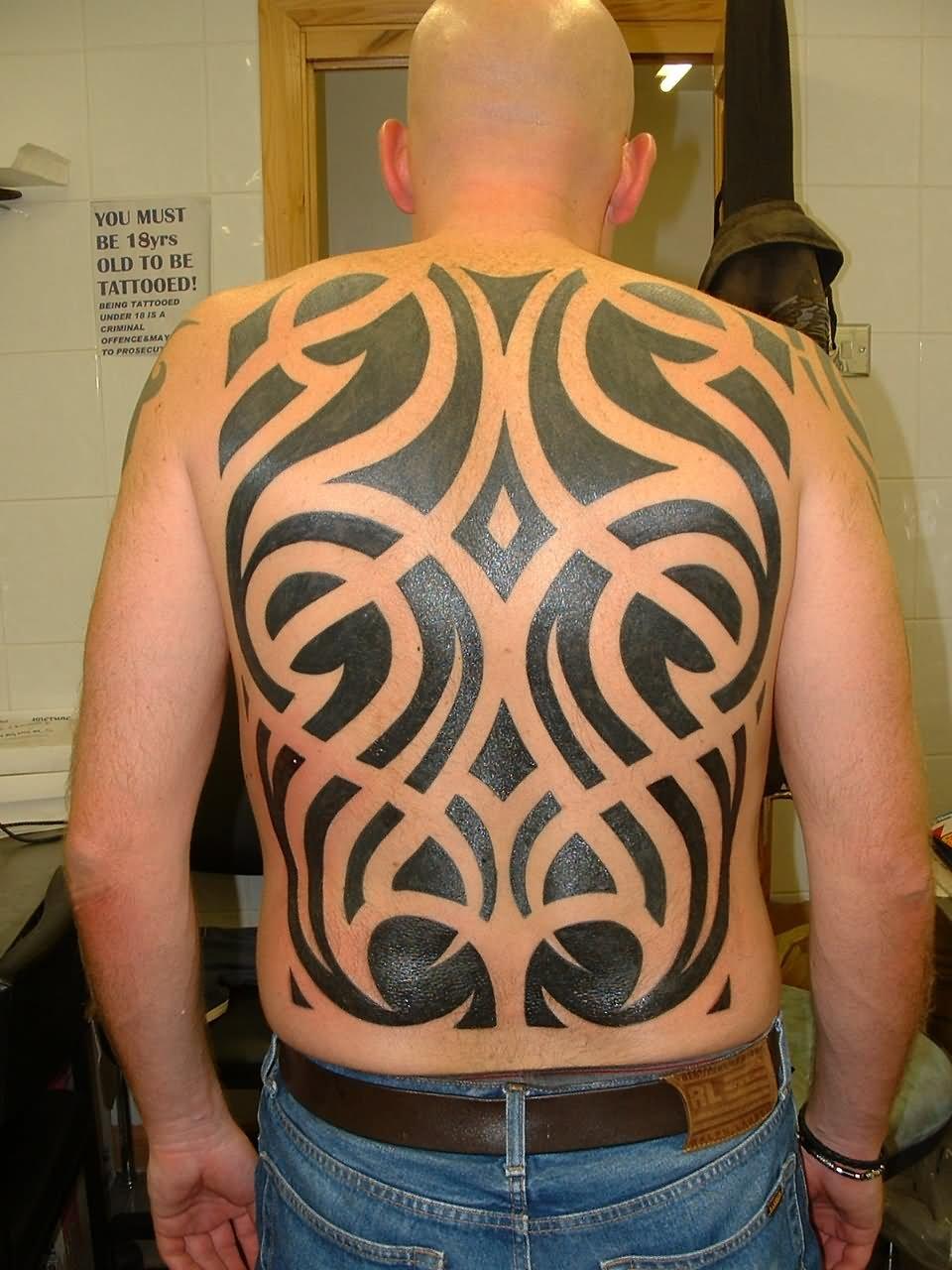 24 full back tribal tattoos. Black Bedroom Furniture Sets. Home Design Ideas