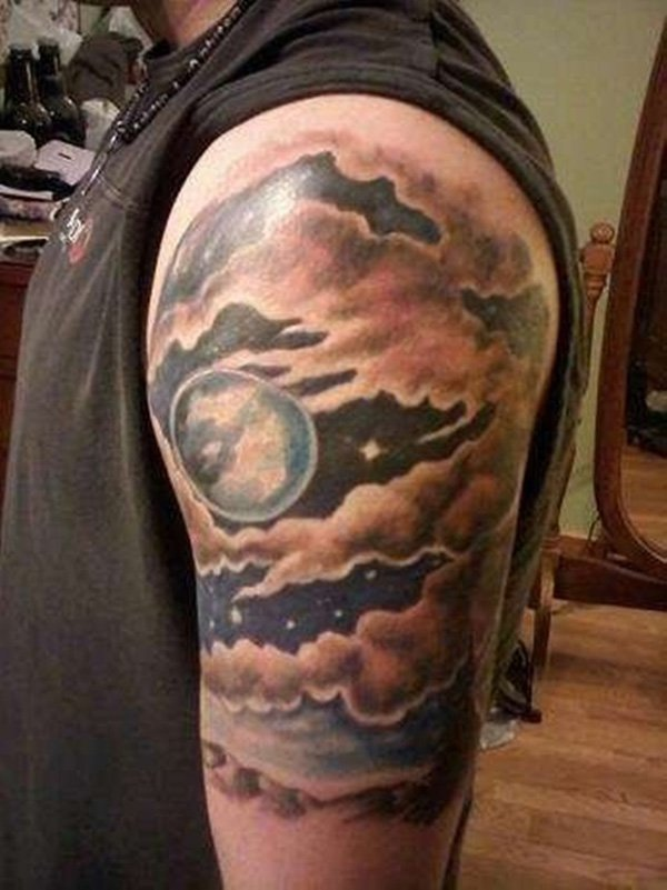 21 awesome cloud shading tattoos