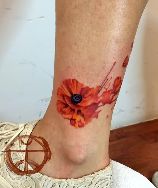 Poppy Flower Tattoo: 34+ Watercolor Poppy Tattoos