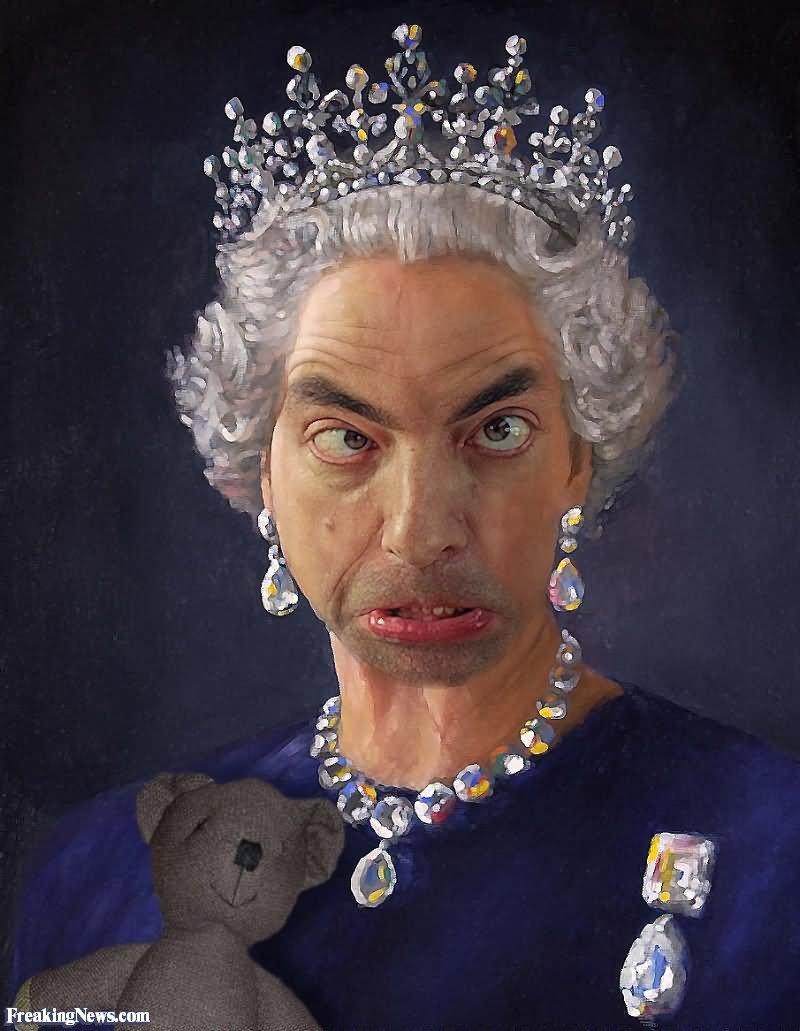 Картинка королевы прикол
