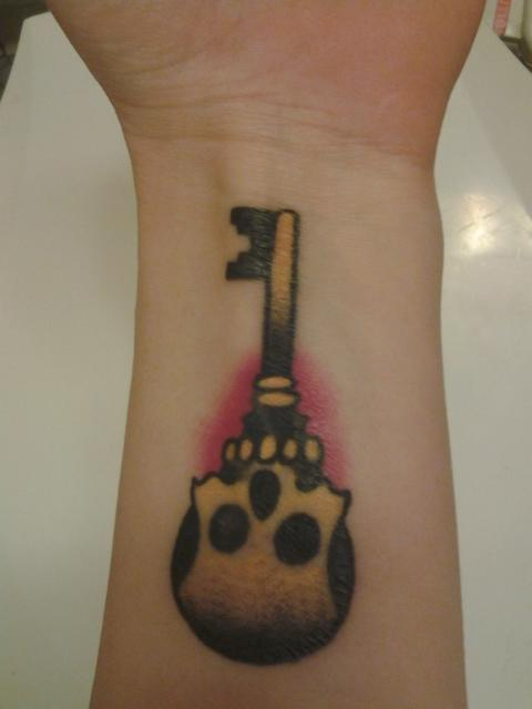 skeleton key tattoo - 480×640