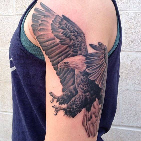 4 amazing eagle tattoos for Eagle tattoo arm