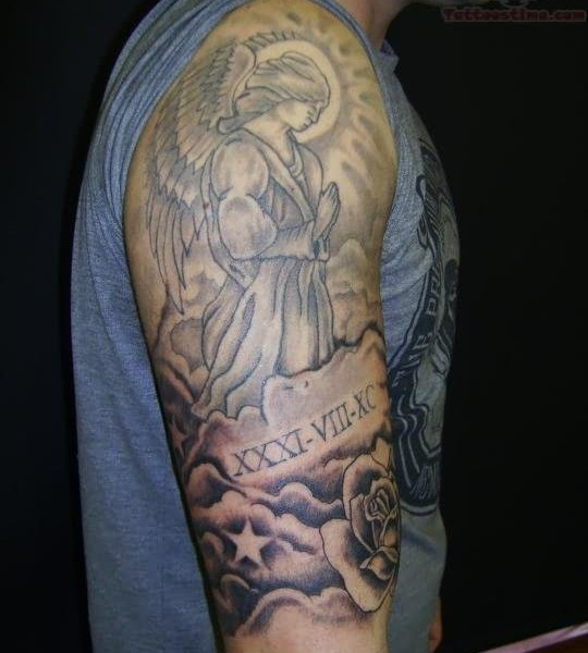 Angel In The Clouds Tattoo