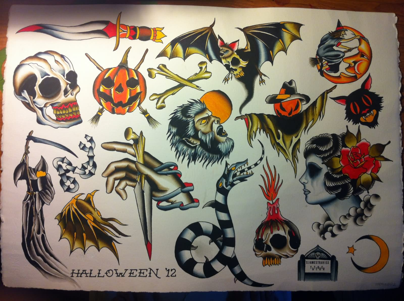 24 Horror Tattoos Flash Ideas